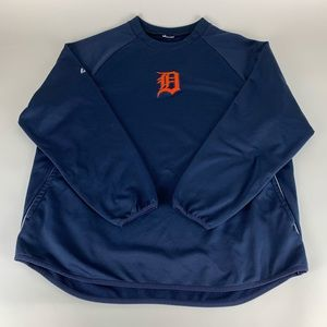 Detroit Tigers MLB Majestic Therma Base Pullover